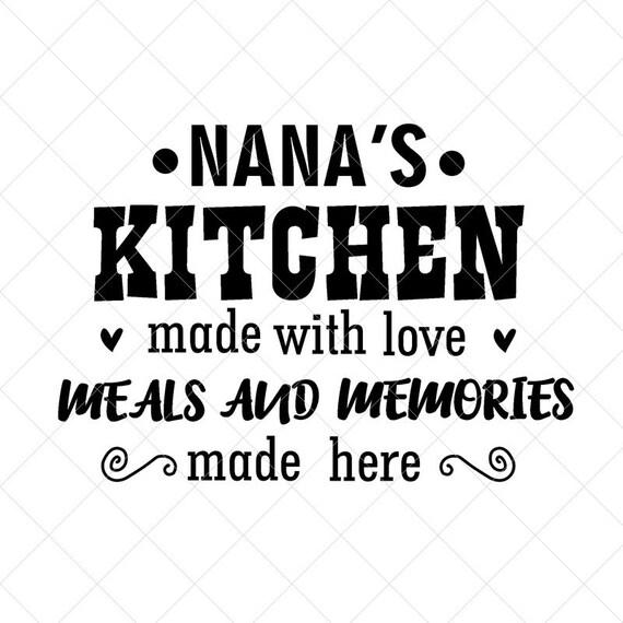 Nana S Kitchen Sign Svg Grandma Svg Grandmother Svg Etsy