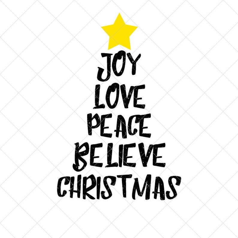 Holiday SVG Eps Print Png Cricut Silhouette Files Dxf Cut Files Christmas Tree Typography SVG Download Christmas SVG