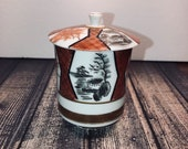 Chinese porcelain jar, Hand painted Jar, Chineese Art.