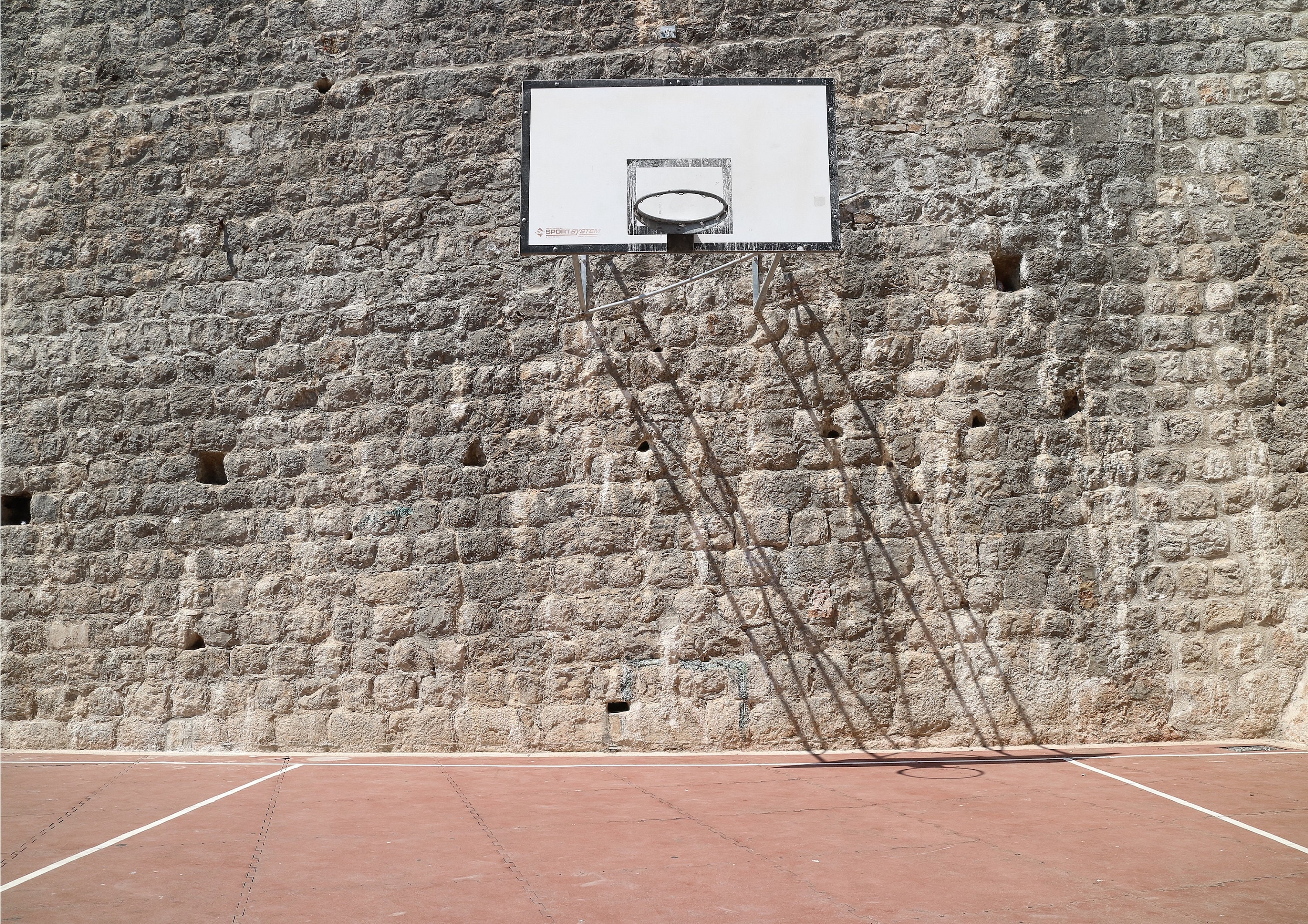photograph relating to Printable Basketball Court referred to as Dubrovnik Basketball Court docket, Printable Wall Artwork - A2/A3/A4