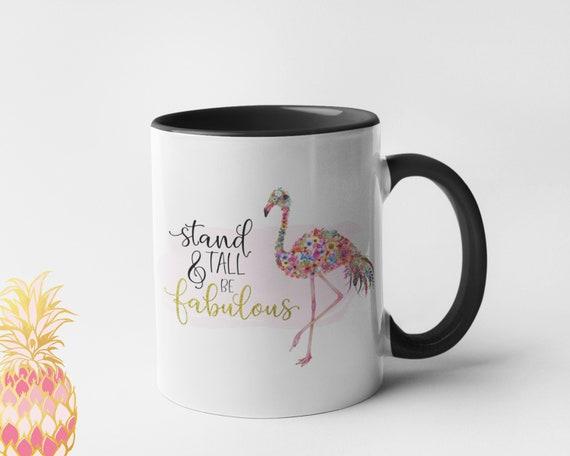 Always Be Yourself Flamingo All Over Coffee Mug