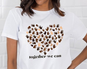 Black Lives Matter Shirt Equality Shirt T Shirt Heart BLK Shirt Love, Motivational Shirt Unity T-Shirt Heart Shirt Womens Shirts