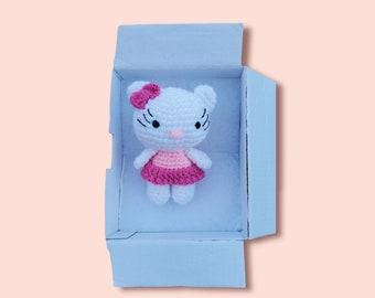 Hello kitty/ Crochet  Kitty Amigurumi/Kitten Crochet/ Keychain