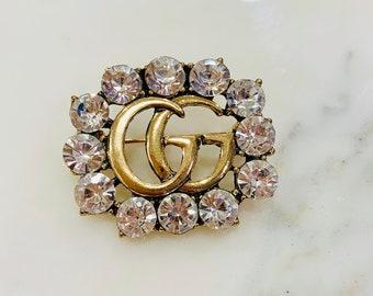 d2e45343ec6 diamond gold brooch - inspired