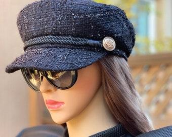 683be34d432 Chanel inspired tweed beret hat - Devil wears Prada