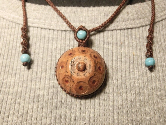 Wooden Handpan Necklace M009 by Etsy