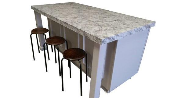 6ft White Color Kitchen Island Without Counter Top Custom Etsy