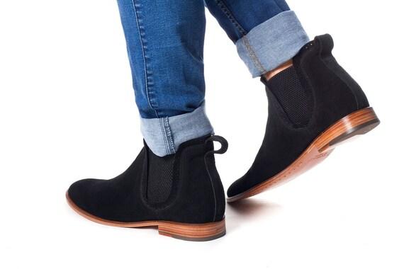 Chelsea boots for men   Black Chelsea Boots   Suede Chelsea Boots   Handmade Chelsea boots