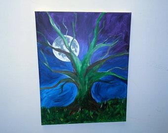 Moonlight Behind a Mossy Oak
