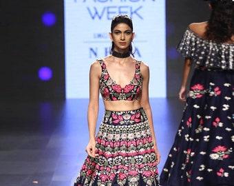 ff92fa05e4 Silk Designer Lehenga Choli Indian Lengha Embroidery Work Dresses Women's  Clothing Lengha for Women