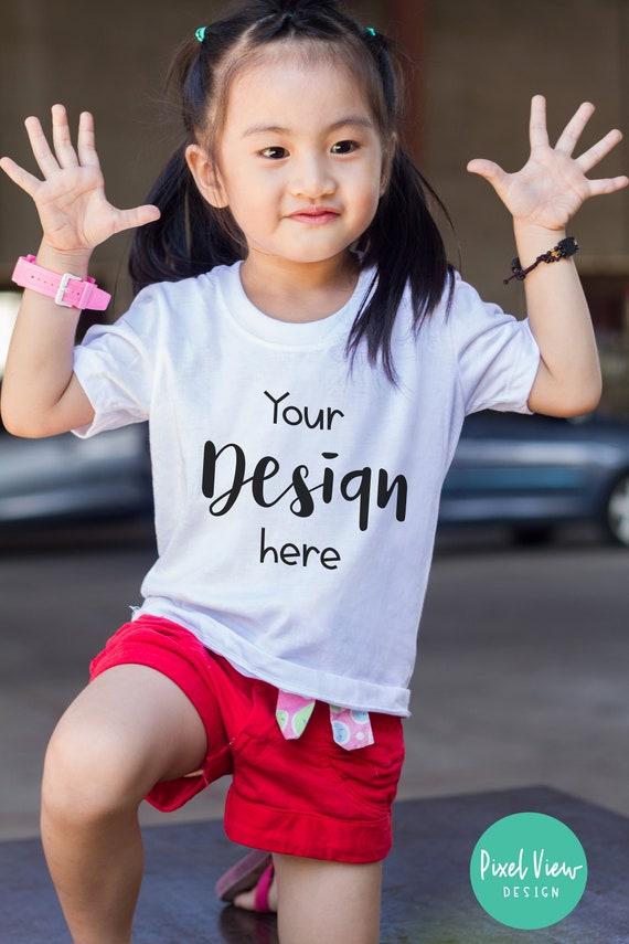 Kids T Shirt Mockup Styled Stock Photo Girl S White Etsy