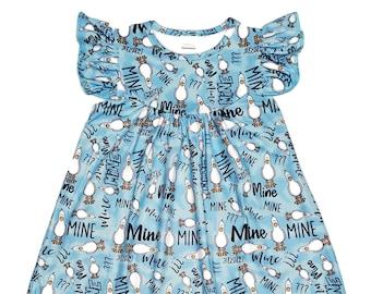 306226a58677d Mine Seagulls Milk Silk Flutter Dress