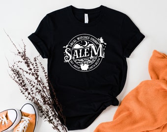 Salem Local Witches Union Sky Above Earth Below Sights Ink Style Graphic T-shirt