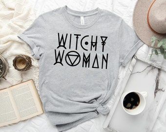 Witchy Woman Sights Ink Style Graphic T-shirt