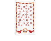 Vintage Pyrex Friendship Inspired Kitchen Towel Birds Kitchen Towel Red Flowers Kitchen Towel Floral Kitchen Towel Retro Kitchen Towel