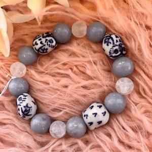 Crackle Quartz and Obsidian Paris Bracelet