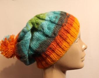 Rainbow winter hat  edd83a0c170