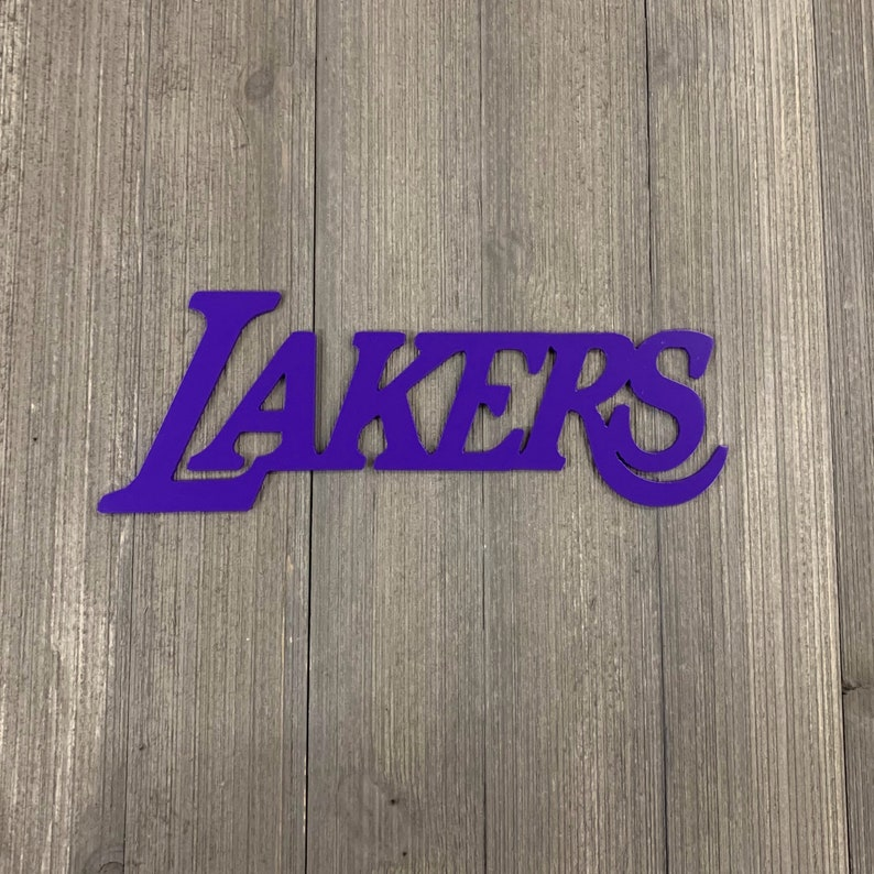 Los Angeles Lakers Metal Sign Cutout   Etsy