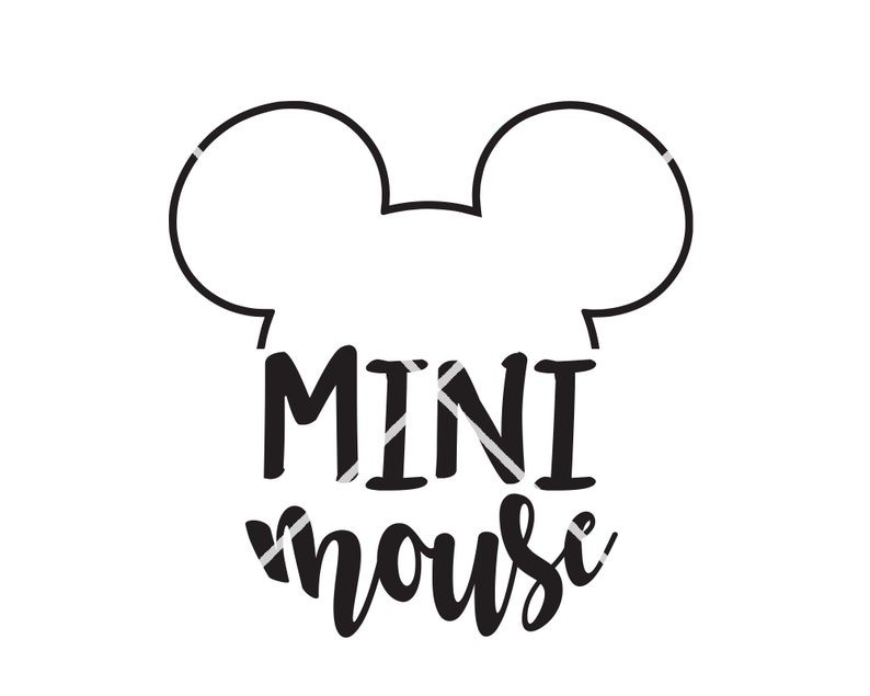 Disney SVG Mini Mouse Mickey Shirt decal transfer vinyl SVG cutting machine pdf eps jpg png Download Print iron on Design
