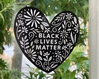Black Lives Matter Removable Window Cling | Window Sticker Decal | Portion of Profits Donated to BLM Organizations | Limited Edition Cling