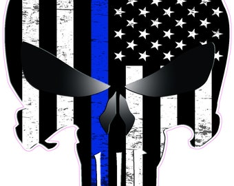 c56836aa8e7 American Punisher Subdued Thin Blue Line Decal