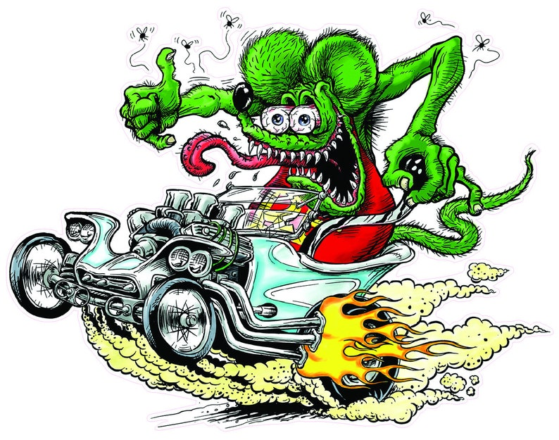 Rat Fink T Bucket Decal image 0