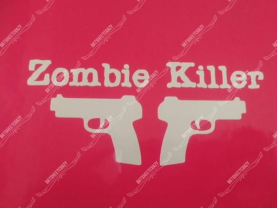 Zombie Killer Window decal With Chainsaw Walking Dead Daryl Dixon Car Sticker A