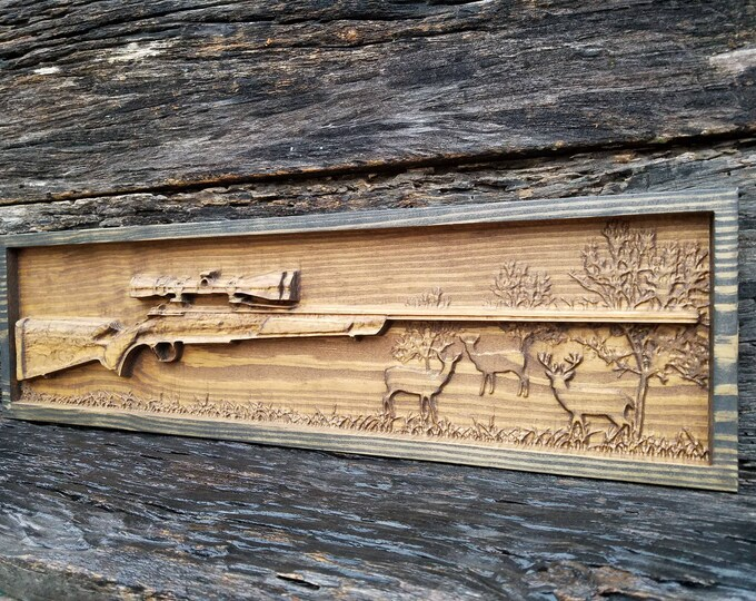 Wooden Hunting Rifle