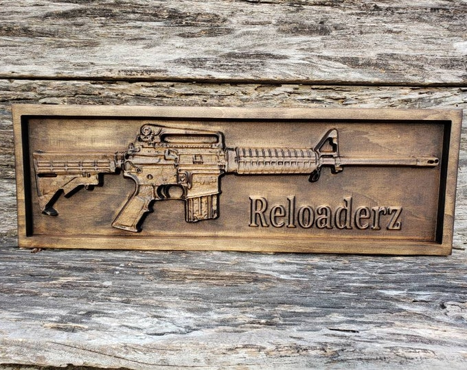 Wooden AR-15 Rifle