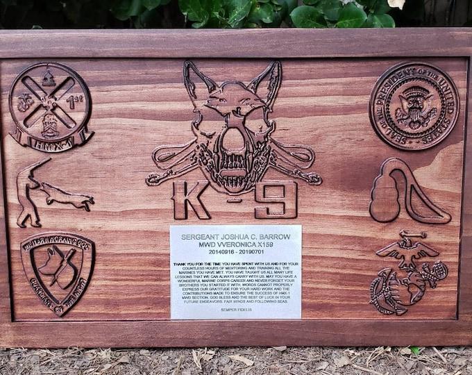 Customizable K-9 Sign