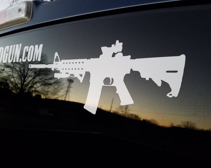 AR-15 Rifle Vinyl Decal
