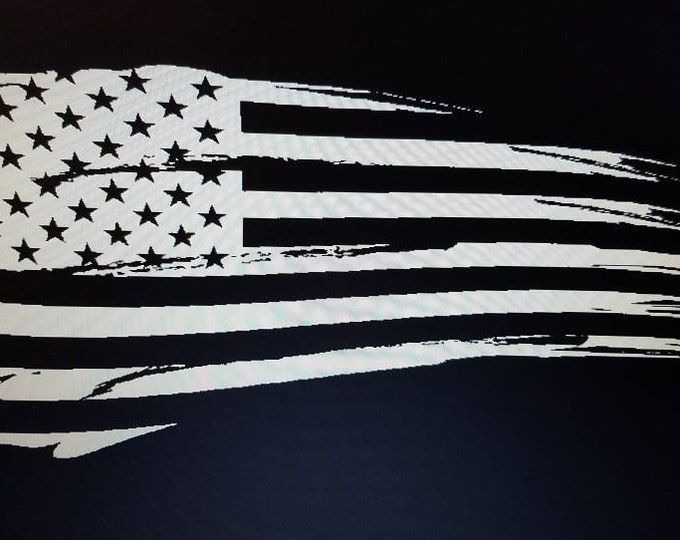 Distressed American Flag Vinyl Decal