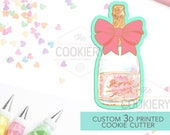 Champagne Bottle with Bow Cookie Cutter - Wine Bottle with Bow Cookie Cutter - Bottle with Ribbon - 3D Printed Cookie Cutter - TCK26120