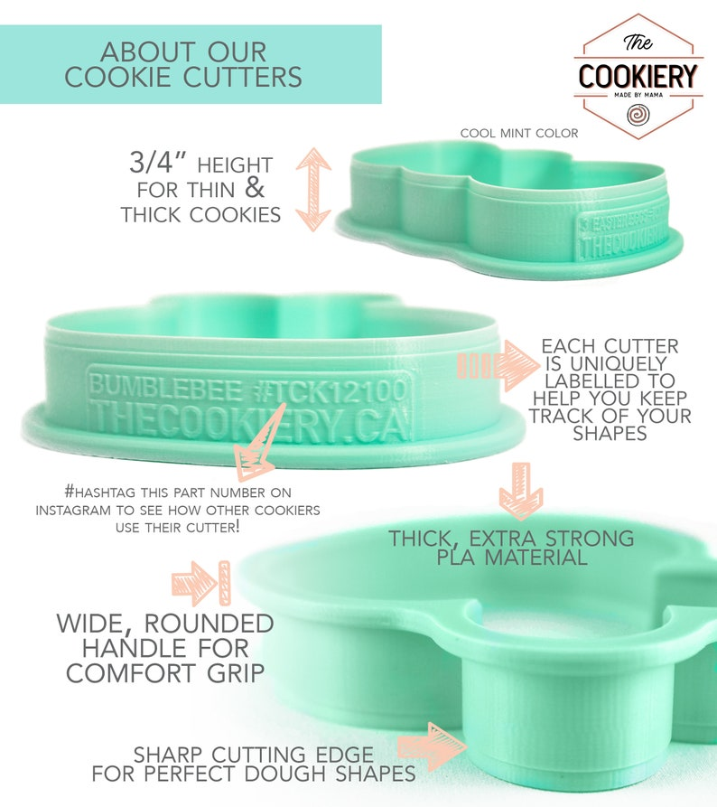 TCK21116 3D Printed Cookie Cutter Set of 4 Cinco De Mayo Cookie Cutter Set Mini Llama Mini Cookie Cutters