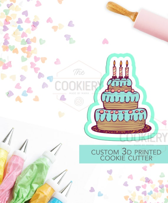 Prime Cake With Candles Cookie Cutter Birthday Cake Cookie Cutter Etsy Funny Birthday Cards Online Hendilapandamsfinfo