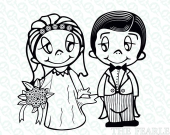 33c3bf7d714a LOVE IS just married vector file - Oggi sposi Love is clipart vari formati  jpg