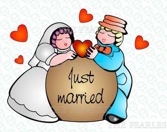a1f185d18ecf Just married in love vector file - Oggi sposi innamorati clipart vari  formati jpg