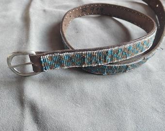 Antique beaded belt, Native American beadwork