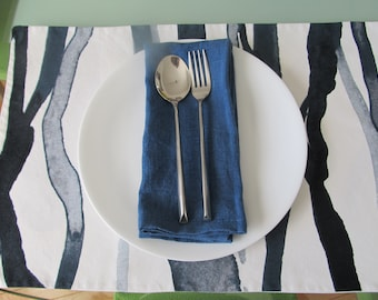 Reversible Cotton Table Placemats, Supercool Placemats, Contemporary Table  Placemats, Scandinavian Fabric Placemats, IKEA Cotton Placemats