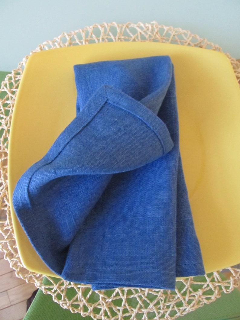 set of 6 linen dinner napkins blue  linen cloth  napkins washed linen table napkins,modern and durable table napkins linen table napkins