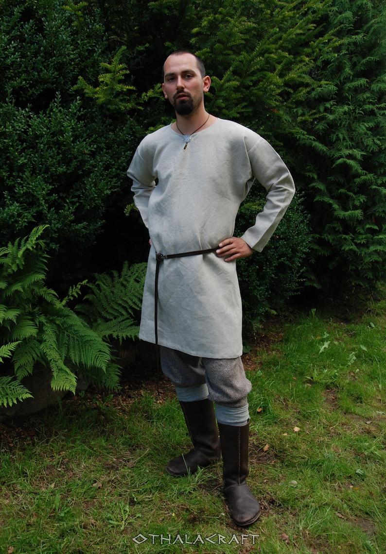 The Vikings Viking Reenactors Medieval Larp Othala Craft Viking  Linen Tunic Slavic Tunic Historical Pattern Early Medieval Viking