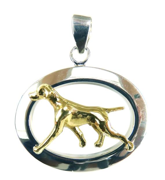 Vizsla Jewelry Sterling Silver Handmade Vizsla Charm  VZ5-C