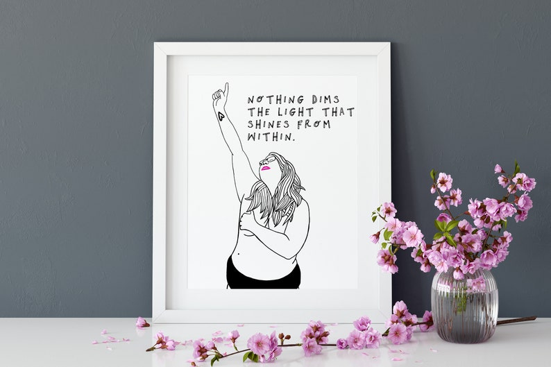 Body Positive Feminist Print A4 With Quote image 0