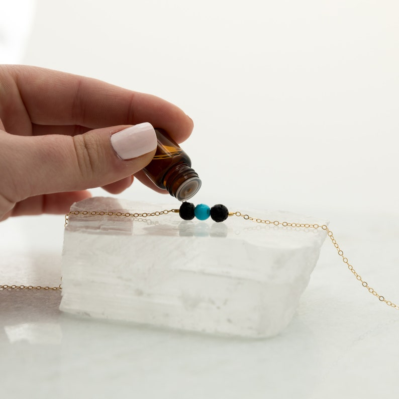 Rare Turquoise Silver Bracelet December Birthstone Jewelry Dainty Handmade Gemstone Lava Bead Bracelet Delicate Sterling Silver Bracelet