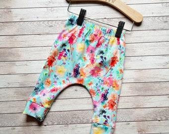 drop crotch pants baby harem pants organic baby leggings cactus leggings organic baby clothing organic toddler leggings desert