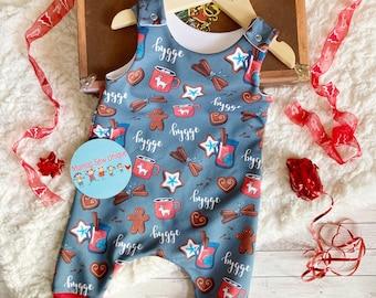 Unisex Christmas harem romper, baby jumpsuit, baby romper, preemie, toddler romper, Christmas romper, Christmas outfit, romper, kids