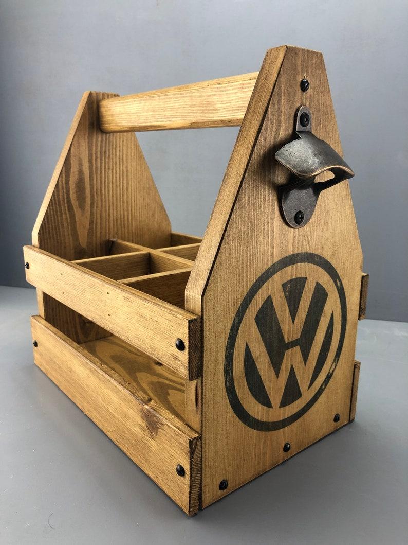 Handmade Beer Caddy, Beer Caddy, VW, Camper van, Gift ideas