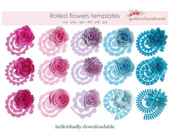 rolled flower svg