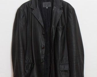 3d28773da9e1 Versace Versus veste en cuir Vintage