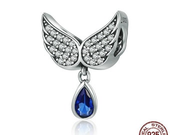 e6af16486 Authentic pandora Real 925 Sterling Silver Angel Wings Feather Pendant Charm  Women Bracelet